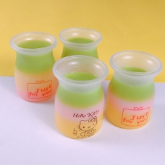 Disposable Plastic Cups Yoghurt Jars with Lids for Cold Drinks Chocolate Desserts, Appetizers