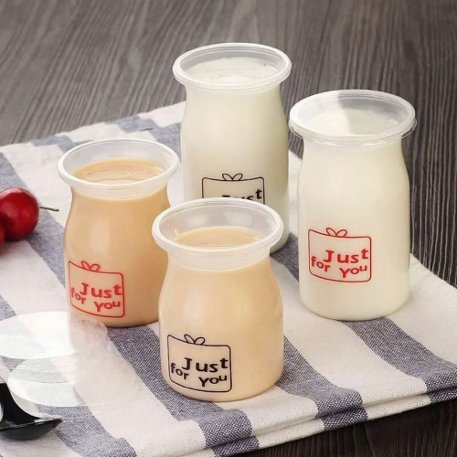 5 oz plastic dessert cups with lid and spoon, puddings cups