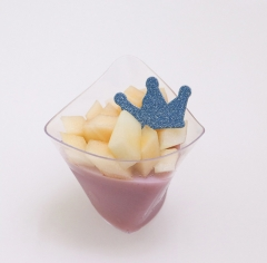 110ml Plastic Dessert Cups with lids Ice Cream Cups with spoons