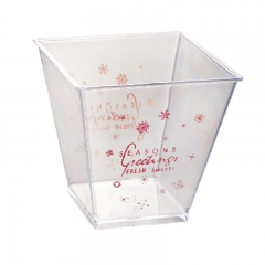 CH40-7271 food service container disposable transparent Plastic Dessert Cups with lids Ice Cream Cups with spoons